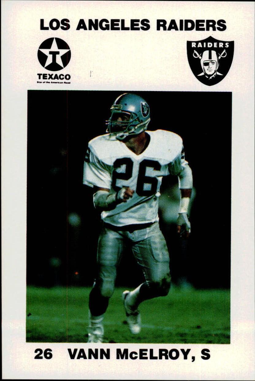 1988 Raiders Police #1 Vann McElroy