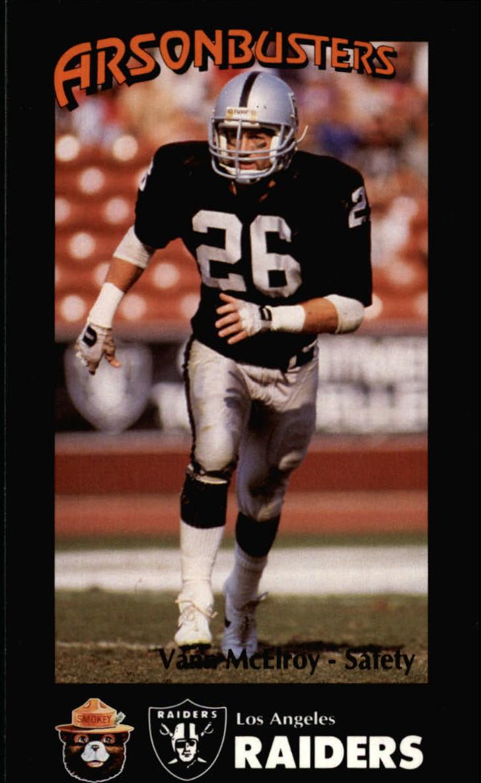 1988 Raiders Smokey #7 Vann McElroy