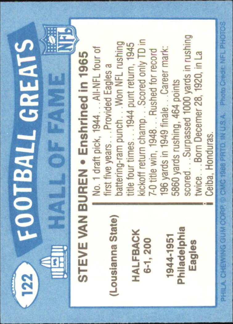 1988 Swell Greats #122 Steve Van Buren 65 UER back image
