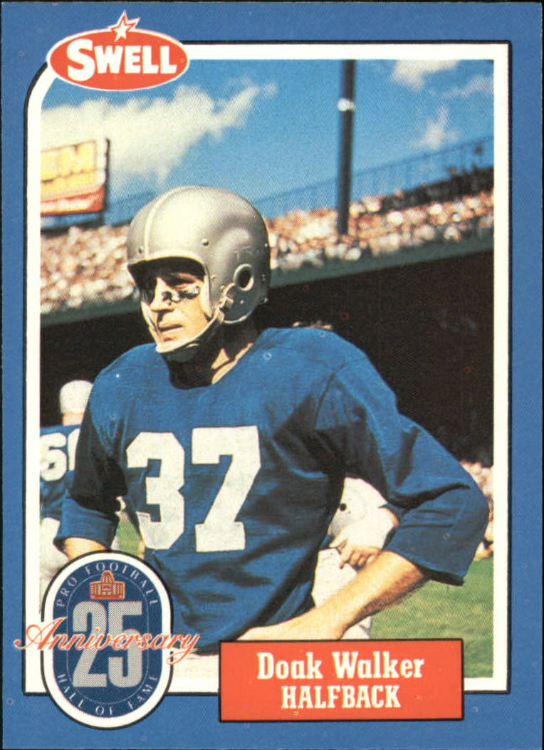 1988 Swell Greats #129 Doak Walker 86