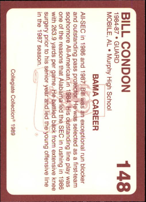 1989 Alabama Coke 580 #148 Bill Condon - NM-MT