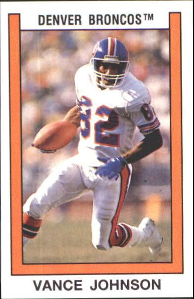 1989 Panini Stickers #267 Vance Johnson