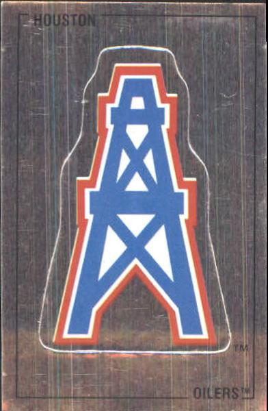 1989 Panini Stickers #274 Houston Oilers Logo FOIL