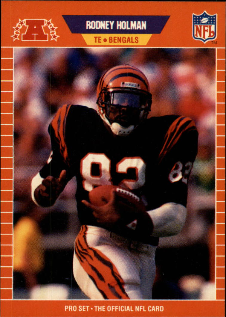 1989 Pro Set #60B Rodney Holman RC/(Bengals on front)