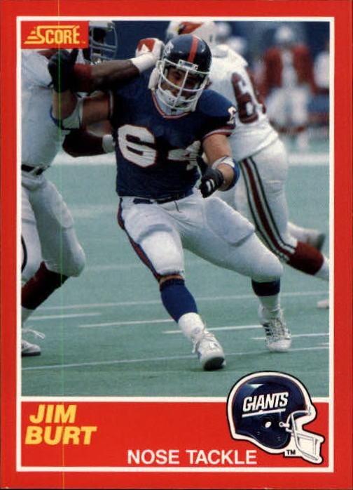 1989 Score #138 Jim Burt