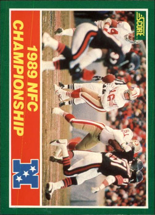 1989 Score #274 NFC Championship/49ers over Bears/(Joe Montana)