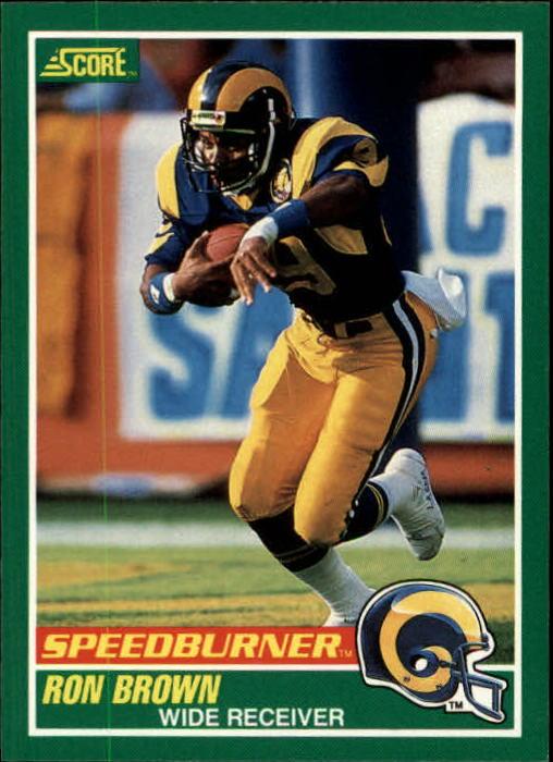 1989 Score #313 Ron Brown SPEED