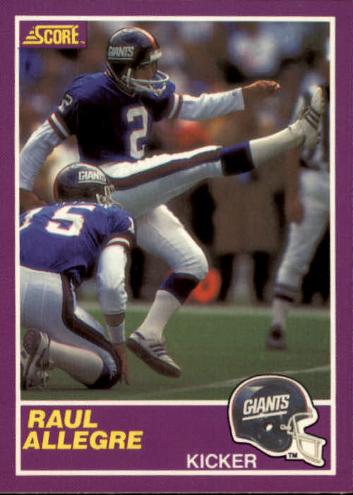 1989 Score Supplemental #338S Raul Allegre