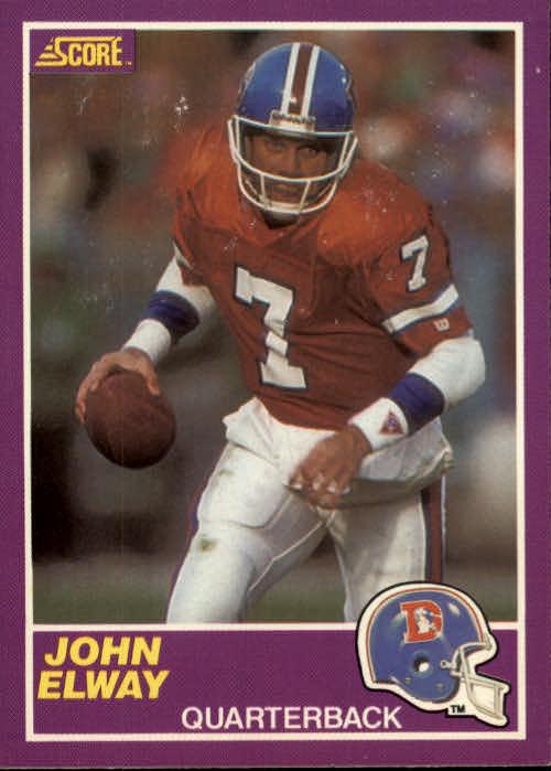 1989 Score Supplemental #339S John Elway