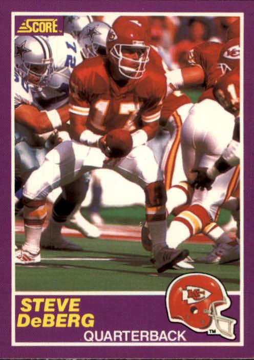 1989 Score Supplemental #342S Steve DeBerg