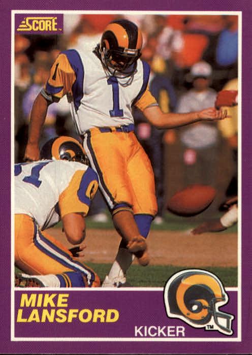 1989 Score Supplemental #344S Mike Lansford