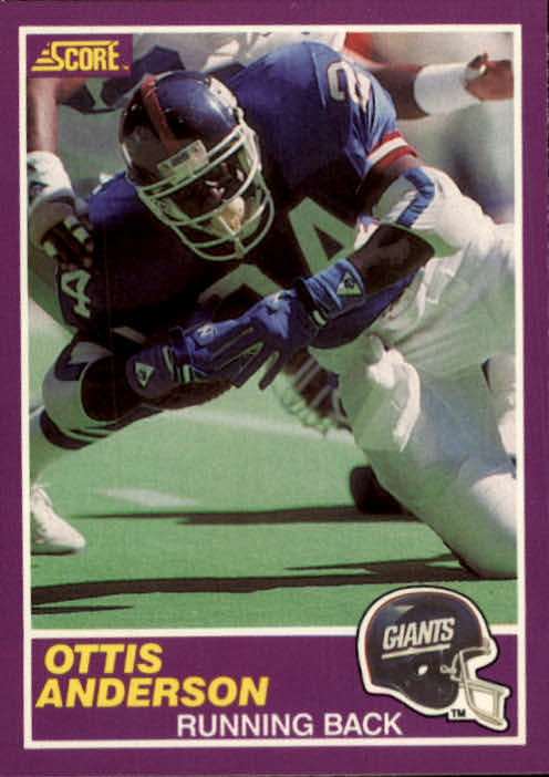 1989 Score Supplemental #348S Ottis Anderson
