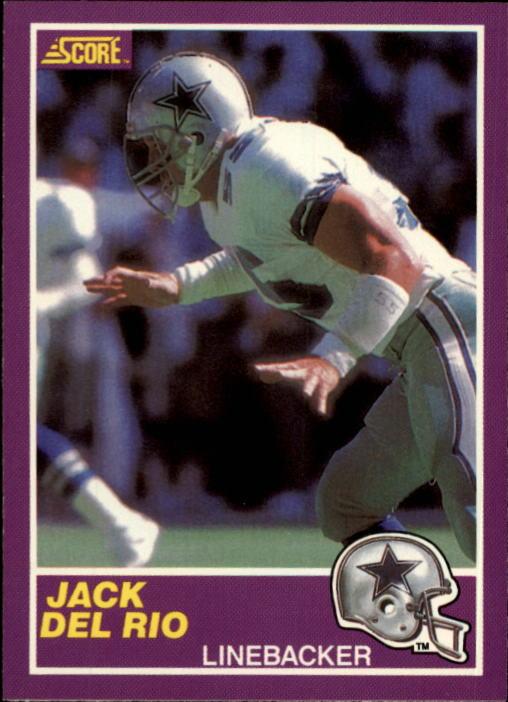1989 Score Supplemental #351S Jack Del Rio RC
