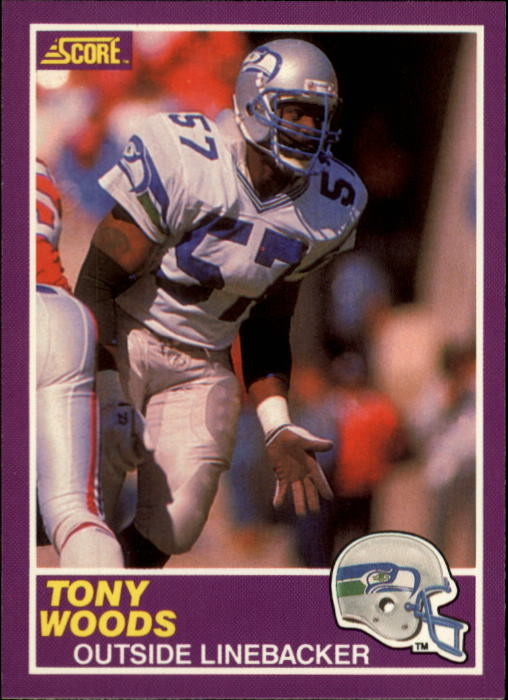 1989 Score Supplemental #355S Tony Woods RC