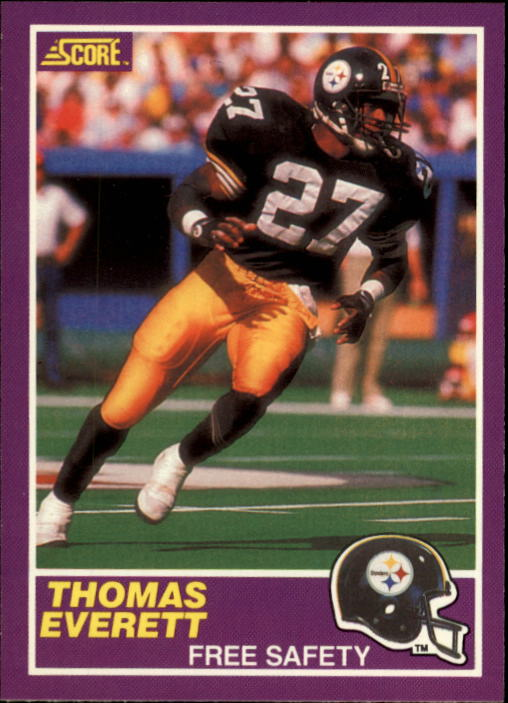 1989 Score Supplemental #390S Thomas Everett RC