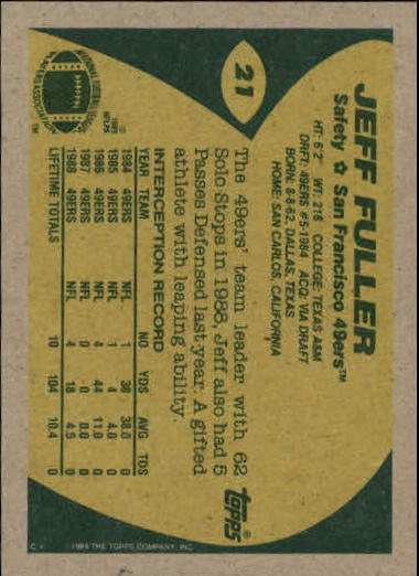 1989-Topps-Football-Card-Pick-2-249 thumbnail 27