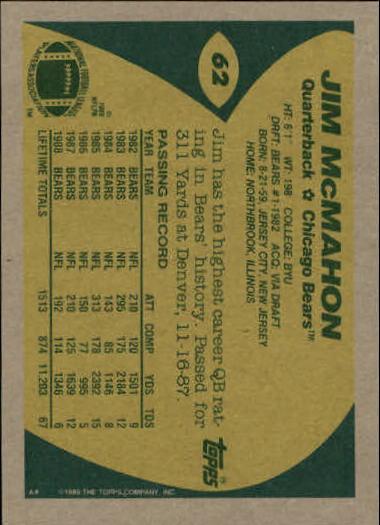 1989-Topps-Football-Card-Pick-2-249 thumbnail 91