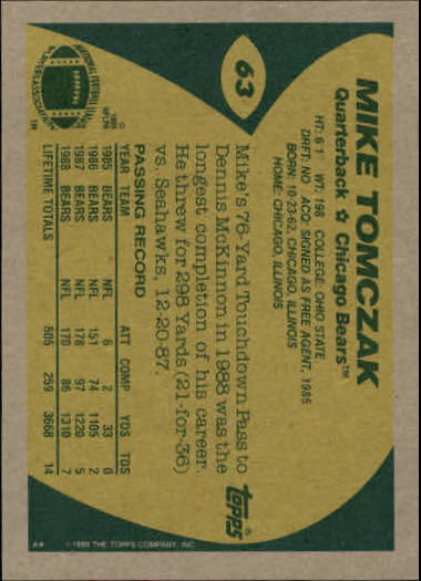 1989-Topps-Football-Card-Pick-2-249 thumbnail 93