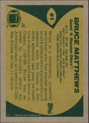 1989-Topps-Football-Card-Pick-2-249 thumbnail 127