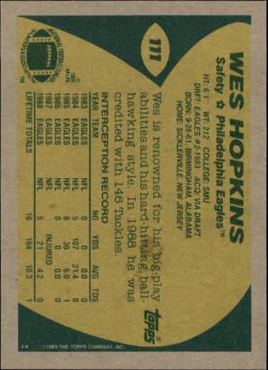 1989-Topps-Football-Card-Pick-2-249 thumbnail 161