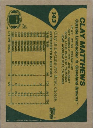 1989-Topps-Football-Card-Pick-2-249 thumbnail 219
