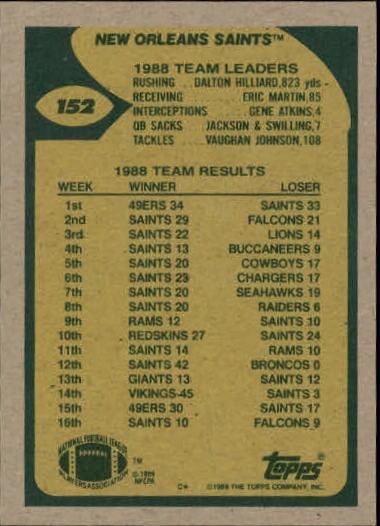 1989-Topps-Football-Card-Pick-2-249 thumbnail 233