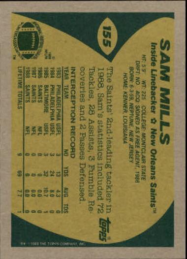 1989-Topps-Football-Card-Pick-2-249 thumbnail 239
