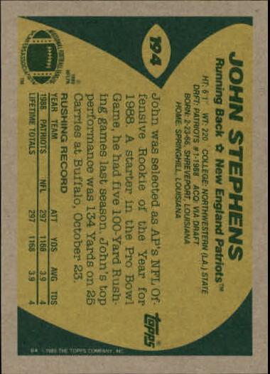 1989-Topps-Football-Card-Pick-2-249 thumbnail 307