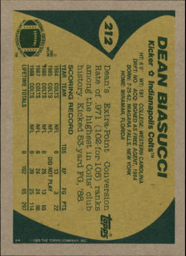 1989-Topps-Football-Card-Pick-2-249 thumbnail 339