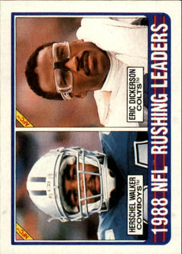 1989 Topps #219 Rushing Leaders/Herschel Walker/Eric Dickerson