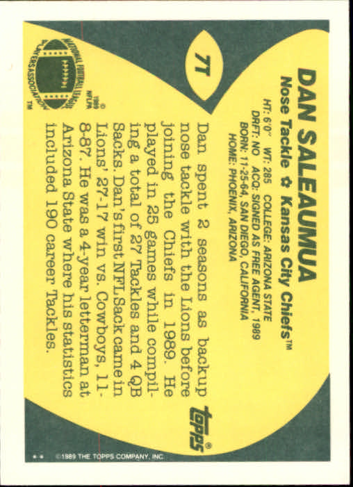1989-Topps-Traded-Football-Card-Pick thumbnail 11