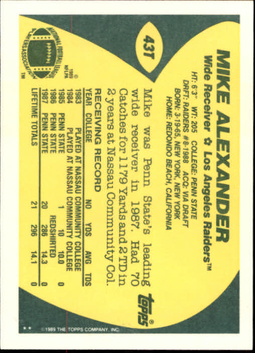 1989-Topps-Traded-Football-Card-Pick thumbnail 69