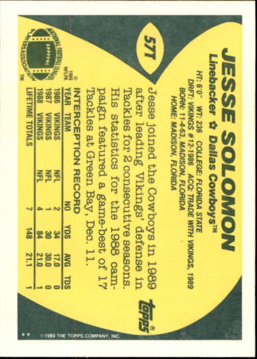 1989-Topps-Traded-Football-Card-Pick thumbnail 89
