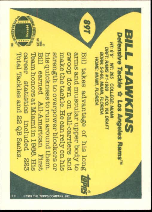 1989-Topps-Traded-Football-Card-Pick thumbnail 137