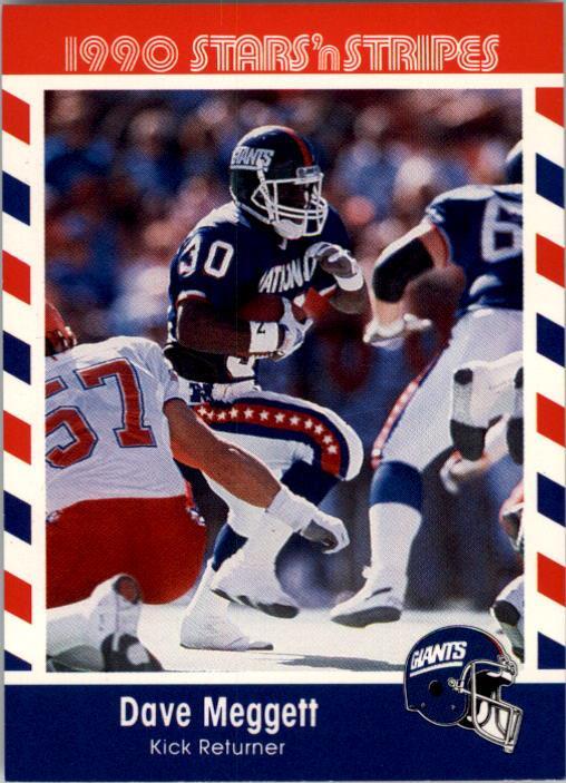 1990 Fleer Stars and Stripes #50 Dave Meggett