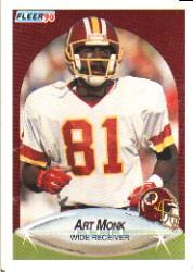 1990 Fleer #164 Art Monk UER/(No explanation of/How Acquired)