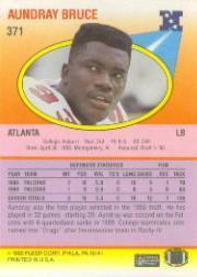 1990 Fleer #371 Aundray Bruce back image