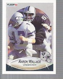 1990 Fleer Update #U69 Aaron Wallace RC
