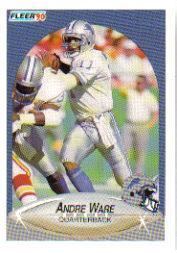 1990 Fleer Update #U92 Andre Ware