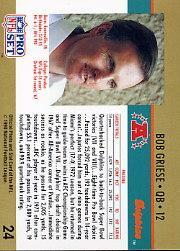 1990 Pro Set #24 Bob Griese HOF back image