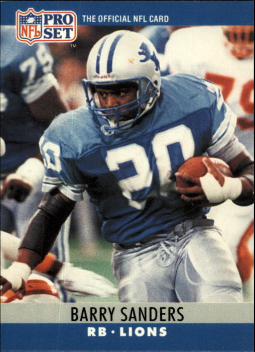 Details About 1990 Pro Set 102 Barry Sanders Detroit Lions