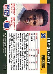 1990 Pro Set #111A Perry Kemp ERR/(Photo on back is/actually Ken Stiles,/wearing gray shirt) back image