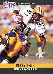 1990 Pro Set #111A Perry Kemp ERR/(Photo on back is/actually Ken Stiles,/wearing gray shirt)