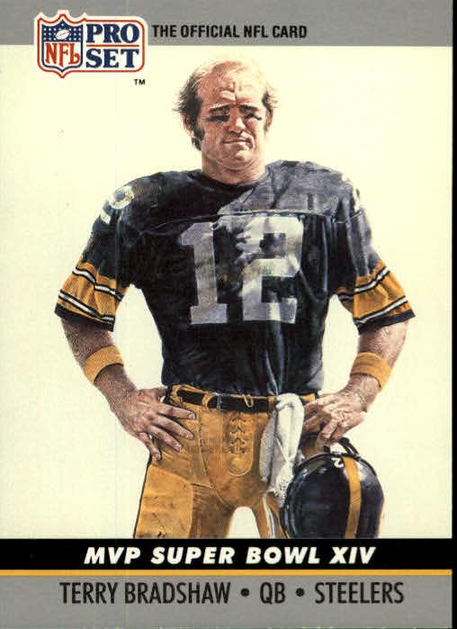 1990 Pro Set Super Bowl MVP's #14 Terry Bradshaw