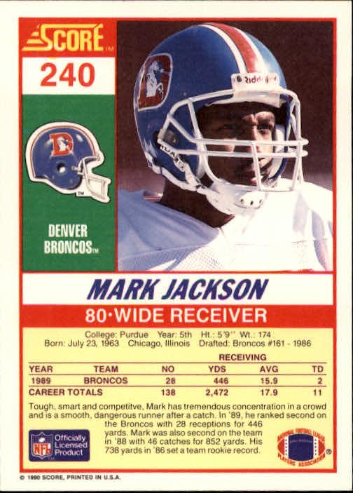 1990 Score #240 Mark Jackson back image