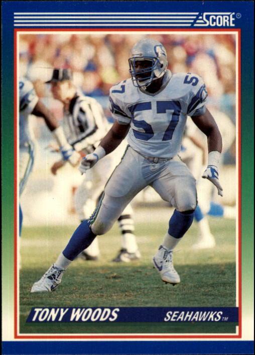 1990 Score #391 Tony Woods