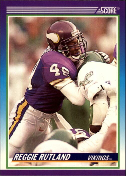 1990 Score #498 Reggie Rutland RC