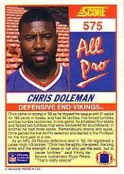 1990 Score #575 Chris Doleman AP back image