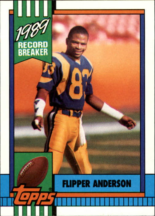 1990 Topps #2 Flipper Anderson RB/Most Receiving Yards: Game