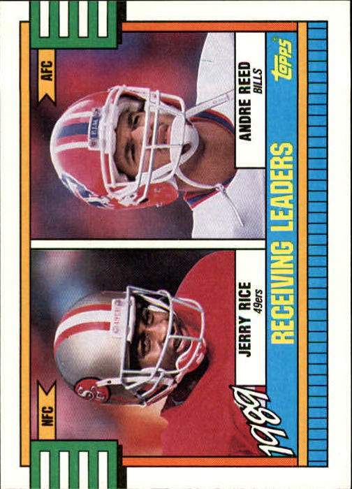 1990 Topps #431A Receiving Leaders/Jerry Rice/Andre Reed